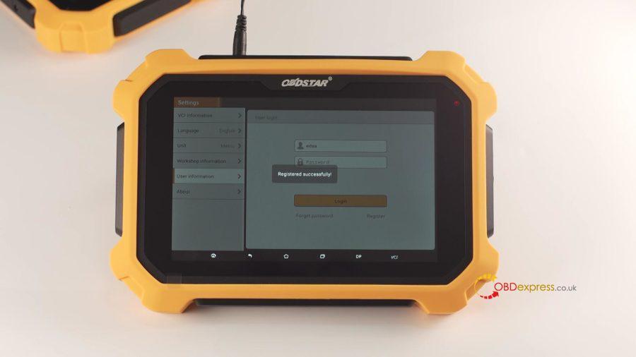 Obdstar X300 Dp Plus Register And Update 11