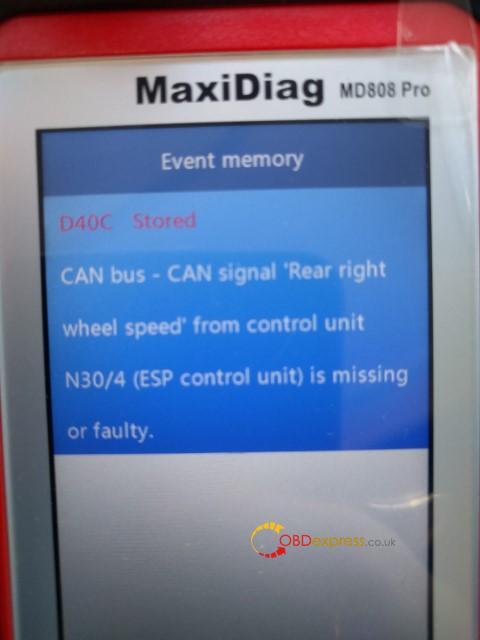 Autel Md808 Pro Reset Benz 906 155 Abs Esp Light 04