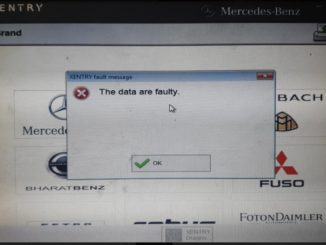 V2020.03 Xentry The Data Are Faulty Solution 01