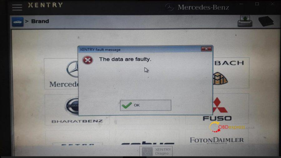 """V2020.03 Xentry the data are faulty solution 01 900x507 - How to fix V2020.03 Xentry error """"The data are faulty""""? - How to fix V2020.03 Xentry error """"The data are faulty""""?"""