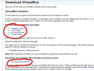 Virtualbox Download Page 01
