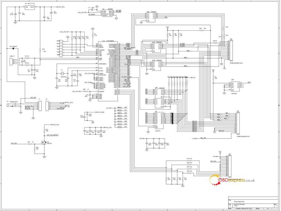 iprog mainboard sch 900x676 - ECU Programmer Iprog Schematics Download Free - ECU Programmer Iprog Schematics Download Free