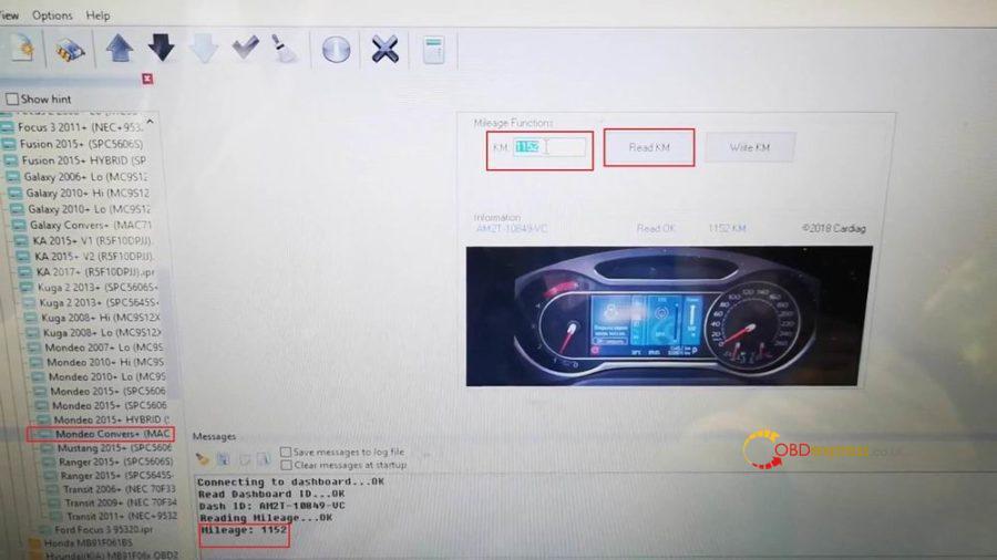Iprog Ford Mondeo S Max Odometer Correction 07