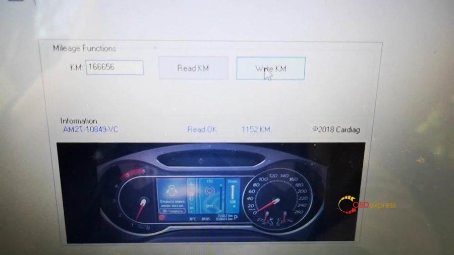 Iprog Ford Mondeo S Max Odometer Correction 08