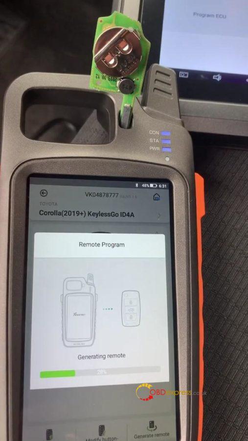 Xhorse Keytool Max Program Toyota Próx Key 05