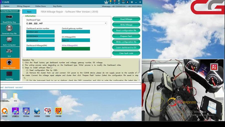 Cgdi Mb W205 Fbs4 Mileage Programming 002