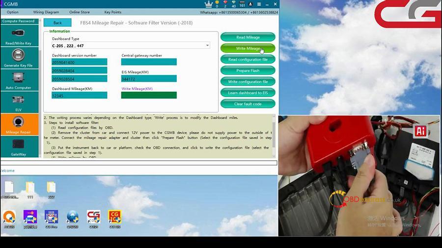 Cgdi Mb W205 Fbs4 Mileage Programming 005