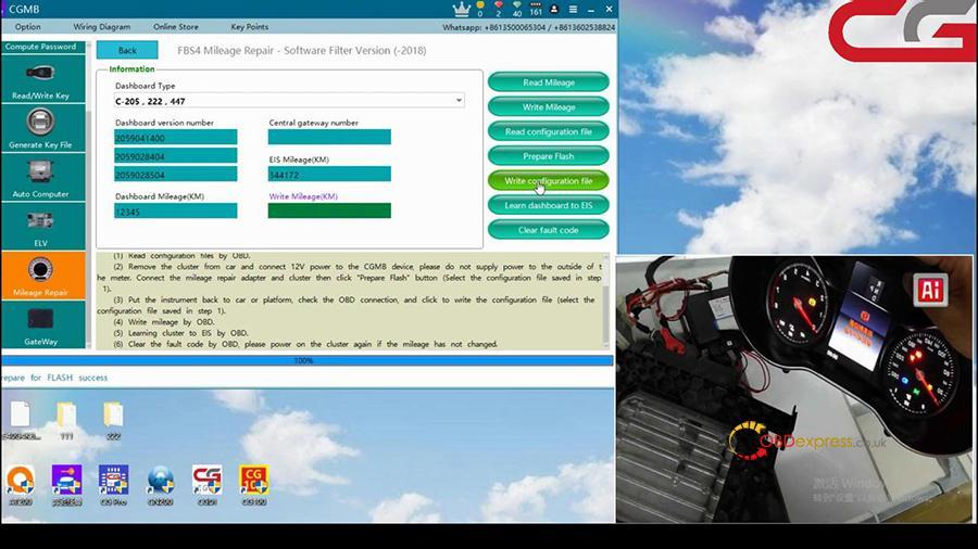 Cgdi Mb W205 Fbs4 Mileage Programming 007