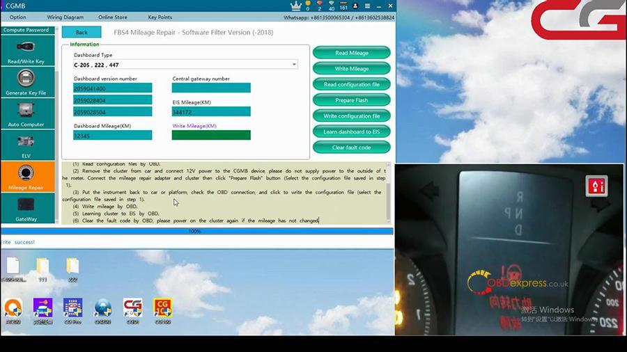 Cgdi Mb W205 Fbs4 Mileage Programming 009