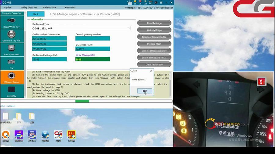 Cgdi Mb W205 Fbs4 Mileage Programming 011