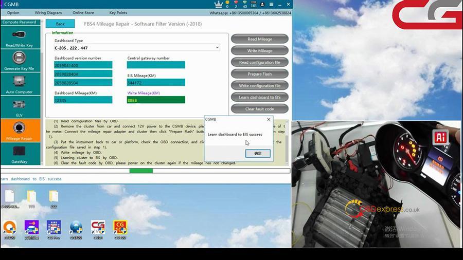 Cgdi Mb W205 Fbs4 Mileage Programming 012