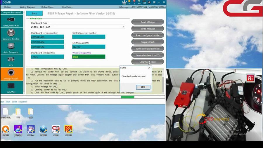 Cgdi Mb W205 Fbs4 Mileage Programming 14
