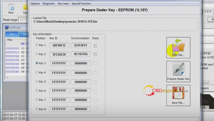 xhorse vvdi porsche bcm reading key programming 014 - Porsche Cayenne 2016 add smart key With Hextag, VVDI pro + VVDI2