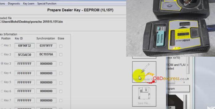 xhorse vvdi porsche bcm reading key programming 015 - Porsche Cayenne 2016 add smart key With Hextag, VVDI pro + VVDI2