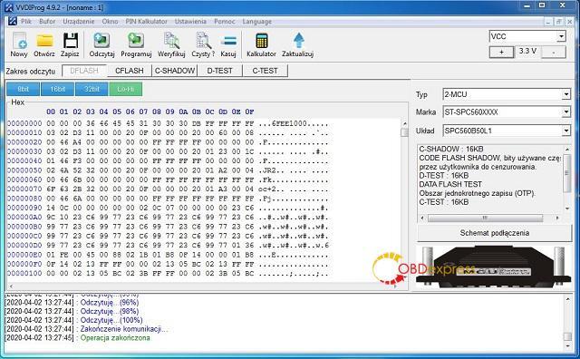 SPC reno VVDI 02 - Will VVDI Prog Read SPC560 Chip? - SPC Reno VVDI 02