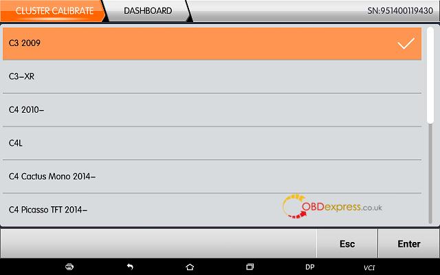 obdstar dp plus citroen mileage programming 02 - OBDSTAR Peugeot Citroen Odometer Correction using guide + Car List - Obdstar Dp Plus Citroen Mileage Programming 02