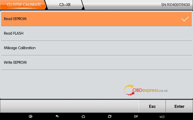 obdstar dp plus citroen mileage programming 04 - OBDSTAR Peugeot Citroen Odometer Correction using guide + Car List - Obdstar Dp Plus Citroen Mileage Programming 04