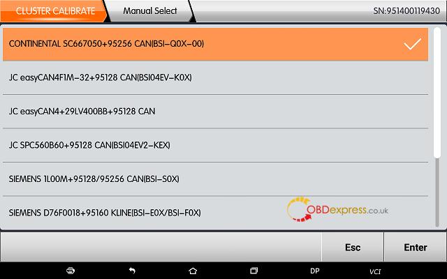 obdstar dp plus citroen mileage programming 07 - OBDSTAR Peugeot Citroen Odometer Correction using guide + Car List - Obdstar Dp Plus Citroen Mileage Programming 07