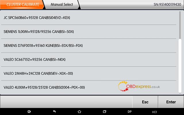 obdstar dp plus citroen mileage programming 08 - OBDSTAR Peugeot Citroen Odometer Correction using guide + Car List - Obdstar Dp Plus Citroen Mileage Programming 08