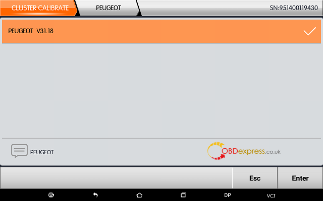 obdstar dp plus peugeot mileage programming 01 - OBDSTAR Peugeot Citroen Odometer Correction using guide + Car List - Obdstar Dp Plus Peugeot Mileage Programming 01