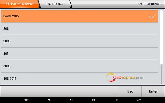 obdstar dp plus peugeot mileage programming 03 - OBDSTAR Peugeot Citroen Odometer Correction using guide + Car List - Obdstar Dp Plus Peugeot Mileage Programming 03