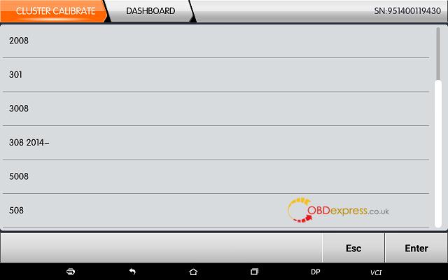 obdstar dp plus peugeot mileage programming 04 - OBDSTAR Peugeot Citroen Odometer Correction using guide + Car List - Obdstar Dp Plus Peugeot Mileage Programming 04