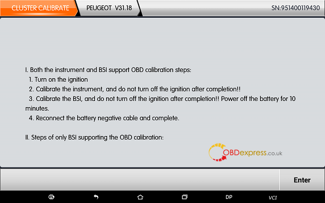 obdstar dp plus peugeot mileage programming 16 - OBDSTAR Peugeot Citroen Odometer Correction using guide + Car List - Obdstar Dp Plus Peugeot Mileage Programming 16