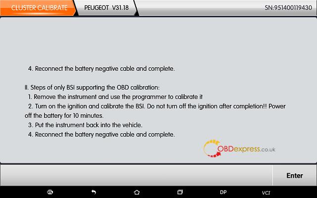 obdstar dp plus peugeot mileage programming 17 - OBDSTAR Peugeot Citroen Odometer Correction using guide + Car List - Obdstar Dp Plus Peugeot Mileage Programming 17