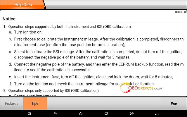 obdstar dp plus peugeot mileage programming 18 - OBDSTAR Peugeot Citroen Odometer Correction using guide + Car List - Obdstar Dp Plus Peugeot Mileage Programming 18