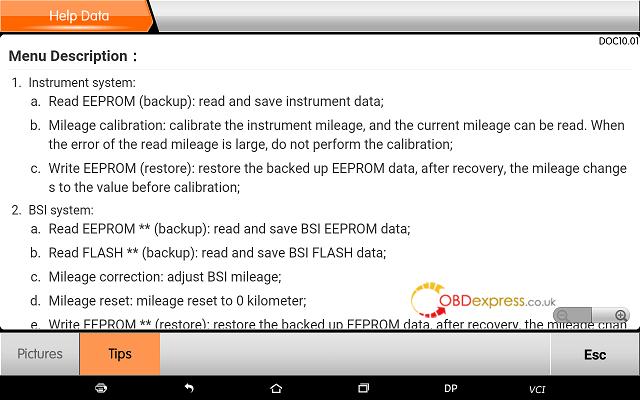 obdstar dp plus peugeot mileage programming 20 - OBDSTAR Peugeot Citroen Odometer Correction using guide + Car List - Obdstar Dp Plus Peugeot Mileage Programming 20