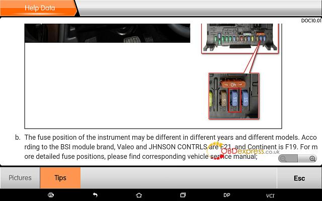 obdstar dp plus peugeot mileage programming 23 - OBDSTAR Peugeot Citroen Odometer Correction using guide + Car List - Obdstar Dp Plus Peugeot Mileage Programming 23