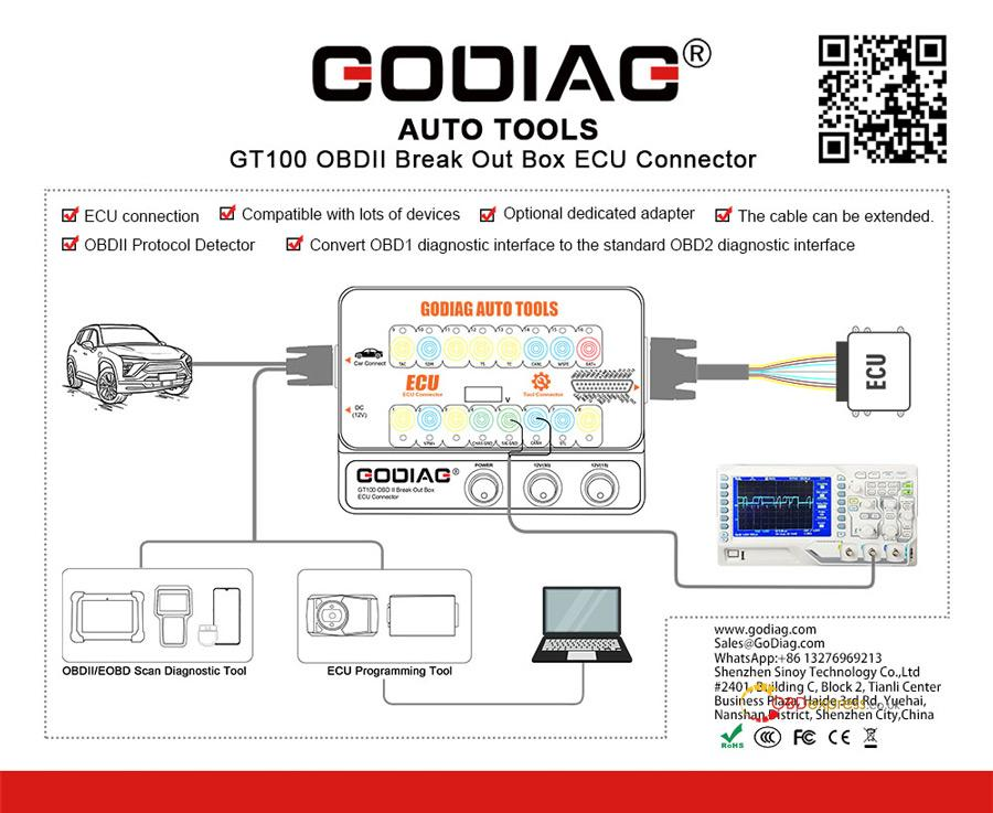 Godiag Gt100 Connection Diagram