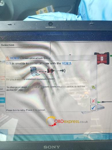 Laptop Wont Connect To Ford Vcm Solution 02