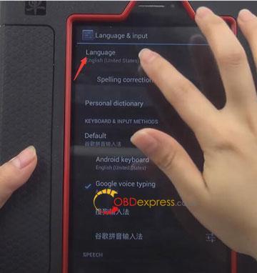 Launch X431 Pad Change Language 02