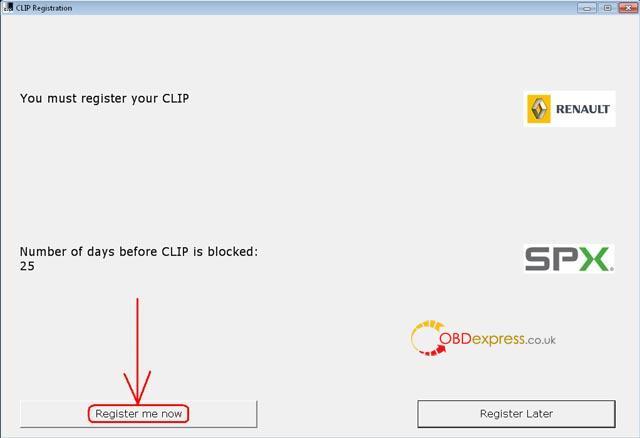 Renault Clip 200 Activation Step 01