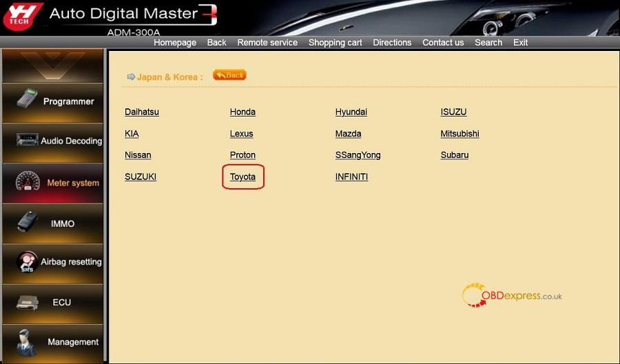 Yanhua Digimaster3 Toyota Odometer Correction 02