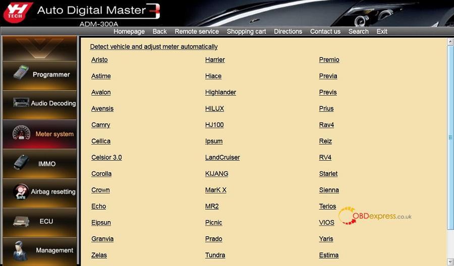 Yanhua Digimaster3 Toyota Odometer Correction 03