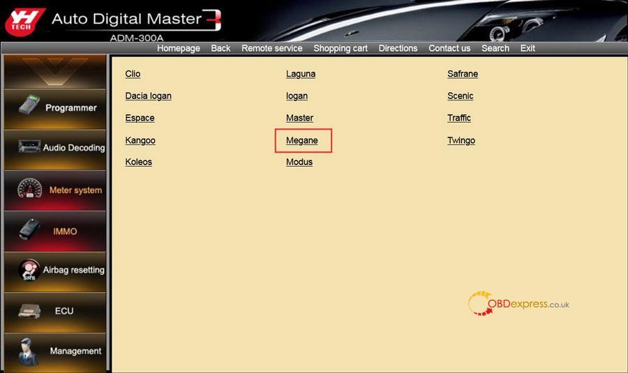 digimaster 3 renault megane 2 phase 2 mileage programming 04 - YH Digimaster 3 Odometer correction for Renault Megane 2 Phase 2 Step-by-step - Digimaster 3 Renault Megane 2 Phase 2 Mileage Programming 04