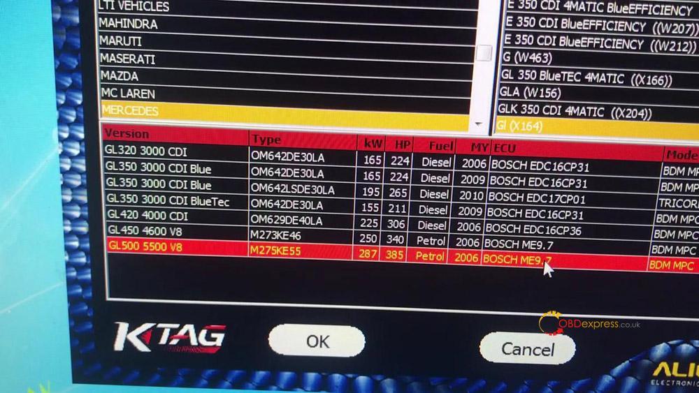 ktag read write mercedes benz me9 7 ecu data 04 - How to read write Mercedes Benz ME9.7 ECU data with Ktag Clone?