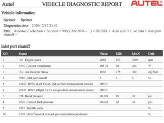 Autel AP200 Sprinter 906 Regen DPF: Confirmed