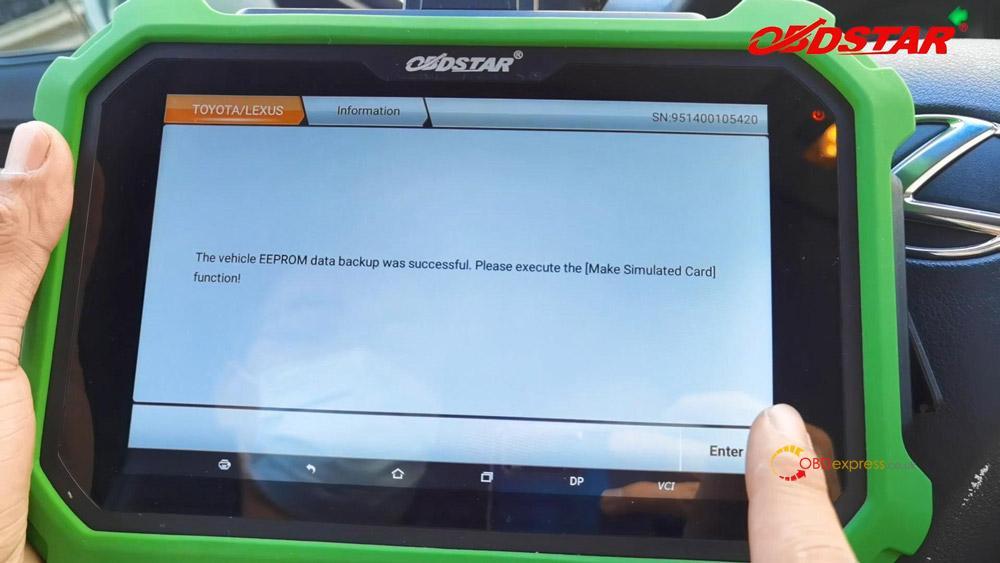 obdstar key sim program lexus 98 smart key akl 09 - Program Toyota Lexus Smart Key AKL by OBDSTAR Key SIM & X300 -