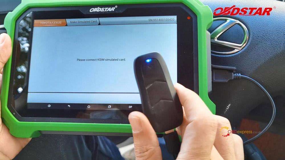 obdstar key sim program lexus 98 smart key akl 11 - Program Toyota Lexus Smart Key AKL by OBDSTAR Key SIM & X300 -