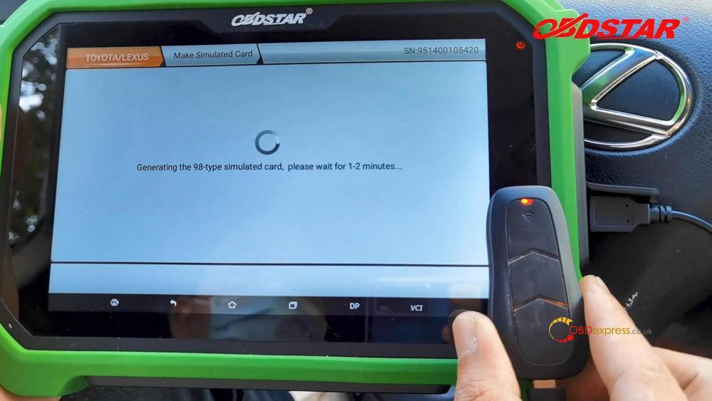 obdstar key sim program lexus 98 smart key akl 12 - Program Toyota Lexus Smart Key AKL by OBDSTAR Key SIM & X300 -