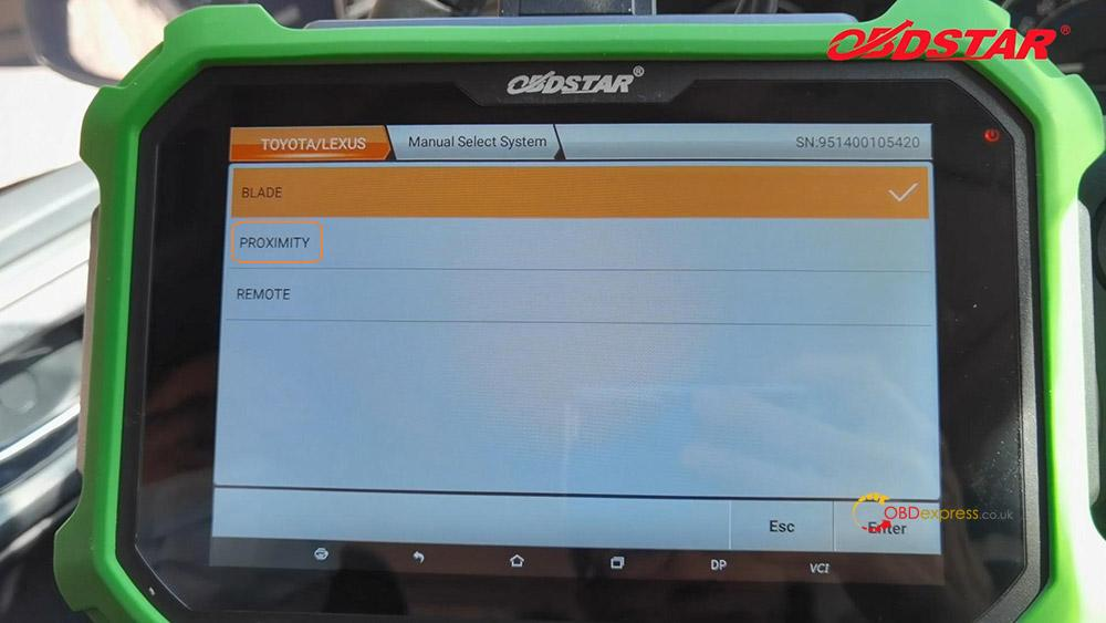 obdstar key sim program toyota a8 smart key akl 01 - Program Toyota Lexus Smart Key AKL by OBDSTAR Key SIM & X300 -