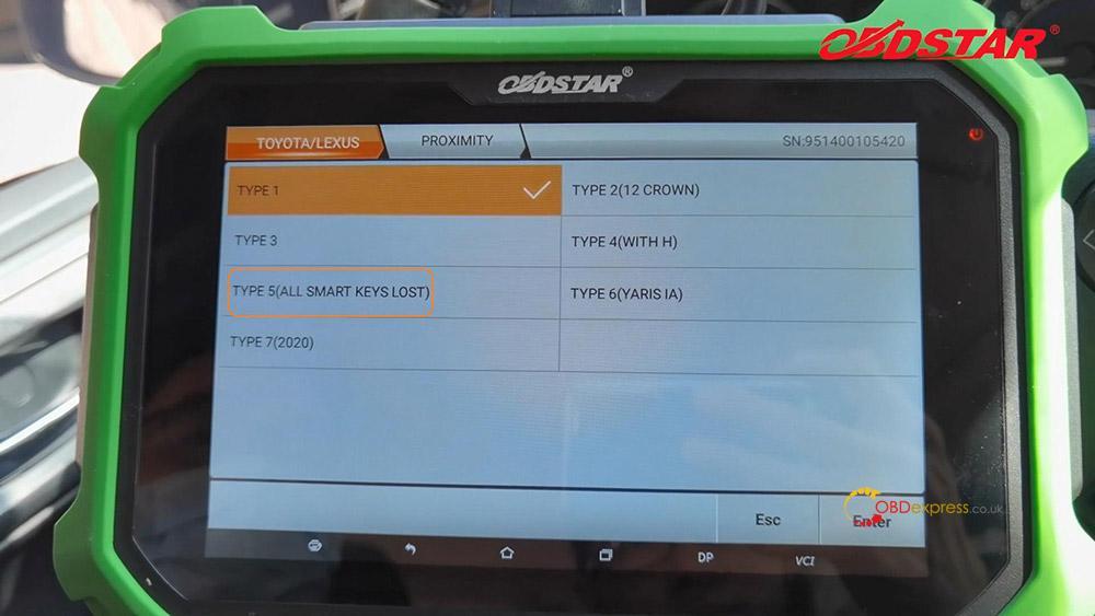 obdstar key sim program toyota a8 smart key akl 02 - Program Toyota Lexus Smart Key AKL by OBDSTAR Key SIM & X300 -