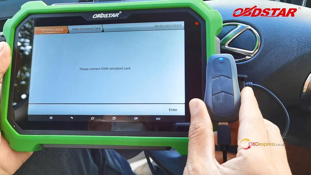 obdstar key sim program toyota a8 smart key akl 05 - Program Toyota Lexus Smart Key AKL by OBDSTAR Key SIM & X300 -