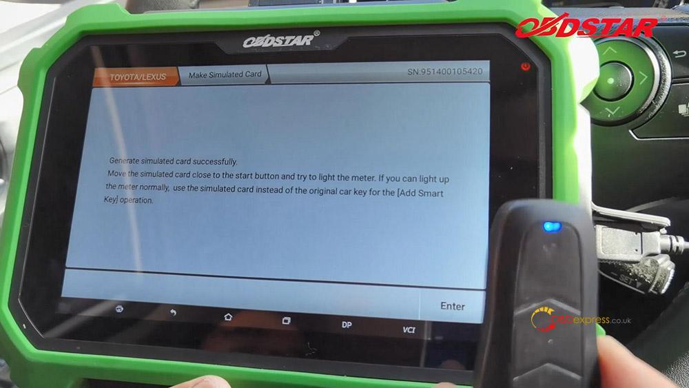 obdstar key sim program toyota a8 smart key akl 07 - Program Toyota Lexus Smart Key AKL by OBDSTAR Key SIM & X300 -