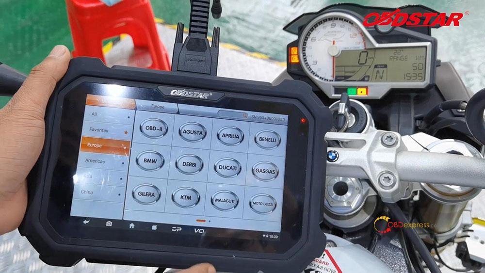 obdstar ms80 diagnose 2018 bmw s1000r motorbike 05 - How does OBDSTAR MS80 diagnose 2018 BMW S1000R Motorbike?