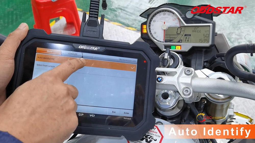 obdstar ms80 diagnose 2018 bmw s1000r motorbike 06 - How does OBDSTAR MS80 diagnose 2018 BMW S1000R Motorbike?