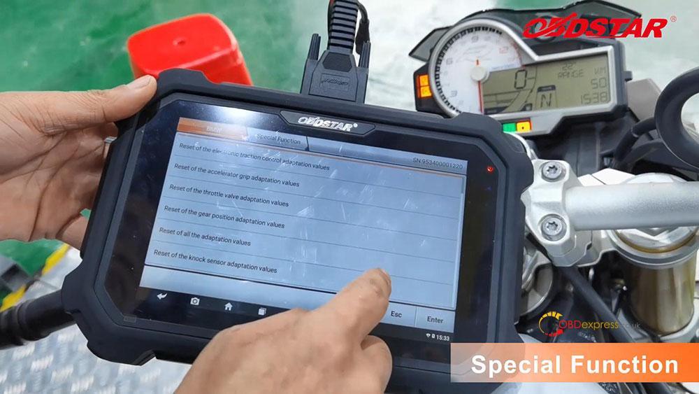 obdstar ms80 diagnose 2018 bmw s1000r motorbike 19 - How does OBDSTAR MS80 diagnose 2018 BMW S1000R Motorbike?
